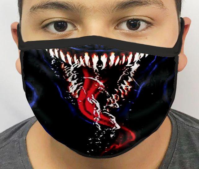 Máscara de Tecido Personalizada Língua Simbionte Lavável Reutilizável - EV