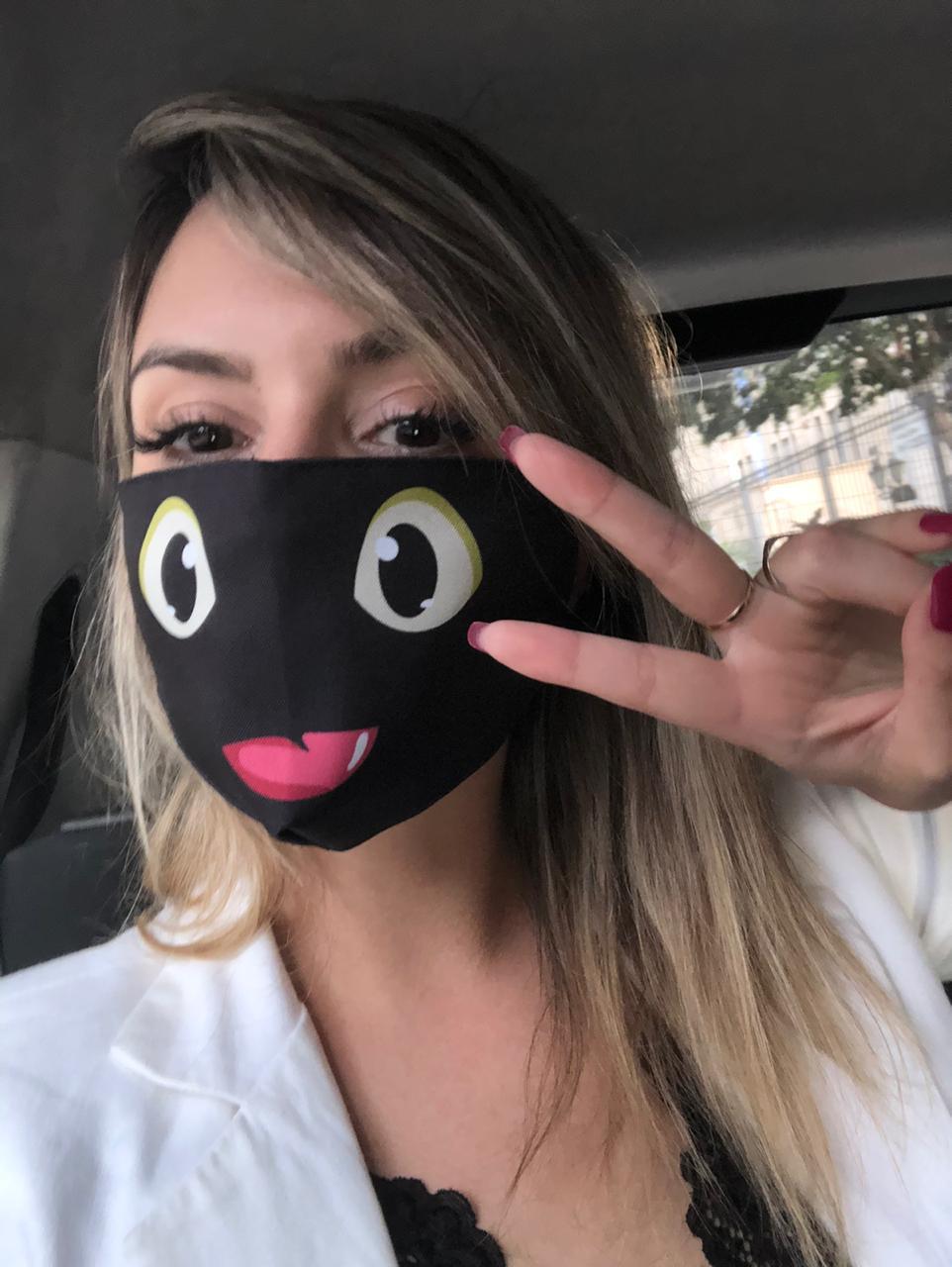Máscara de Tecido Prime Personalizada Banguela Reutilizável - EV