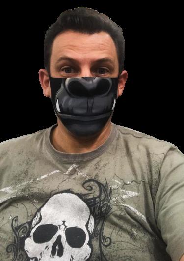 Máscara de Tecido (Neoprene) Personalizada Boca King Kong