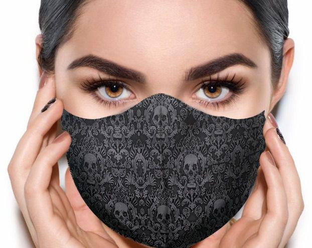 Máscara de Tecido Prime Personalizada Caveiras Reutilizável - EV