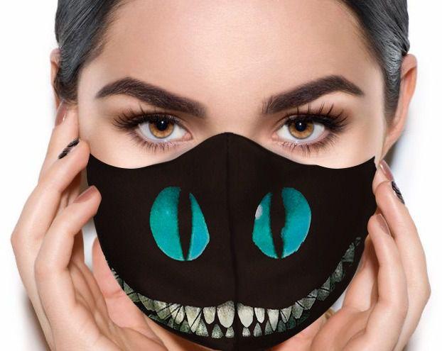 Máscara de Tecido Prime Personalizada Gato que Ri Reutilizável - EV