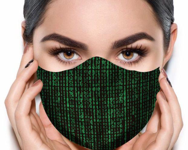 Máscara de Tecido Prime Personalizada Matrix Reutilizável - EV