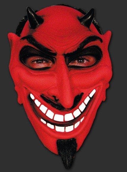 Máscara Diabo com Cavanhaque Halloween