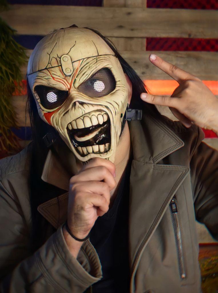 Máscara Eddie: Iron Maiden Terror Halloween Dia das Bruxas