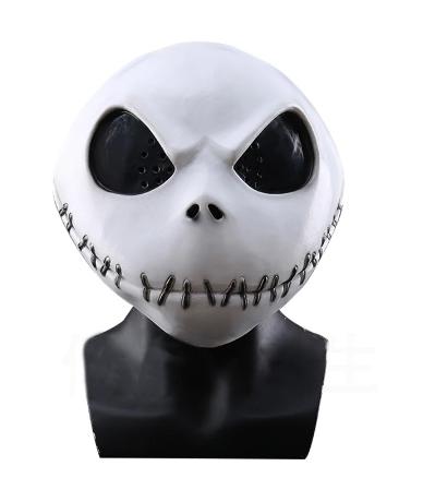 Máscara Jack Skellington: O Estranho Mundo de Jack The Nightmare Before Christmas Terror Halloween Dia das Bruxas - MKP