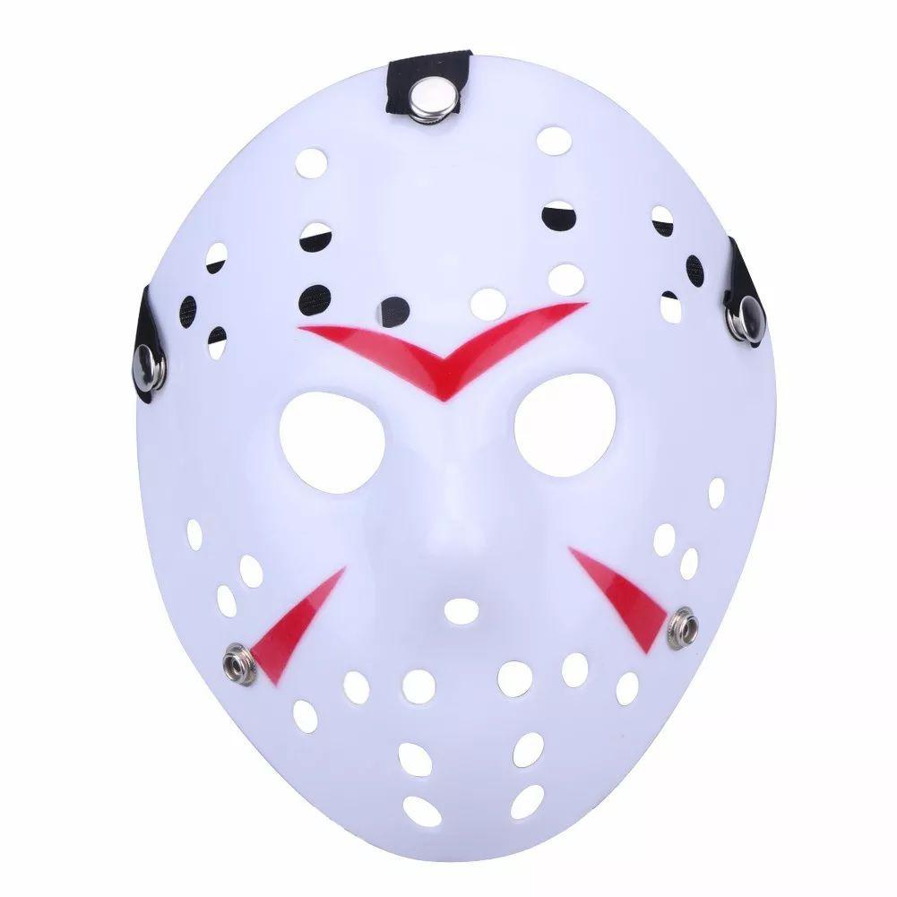 Máscara Jason Branca (Acessório de Fantasia)