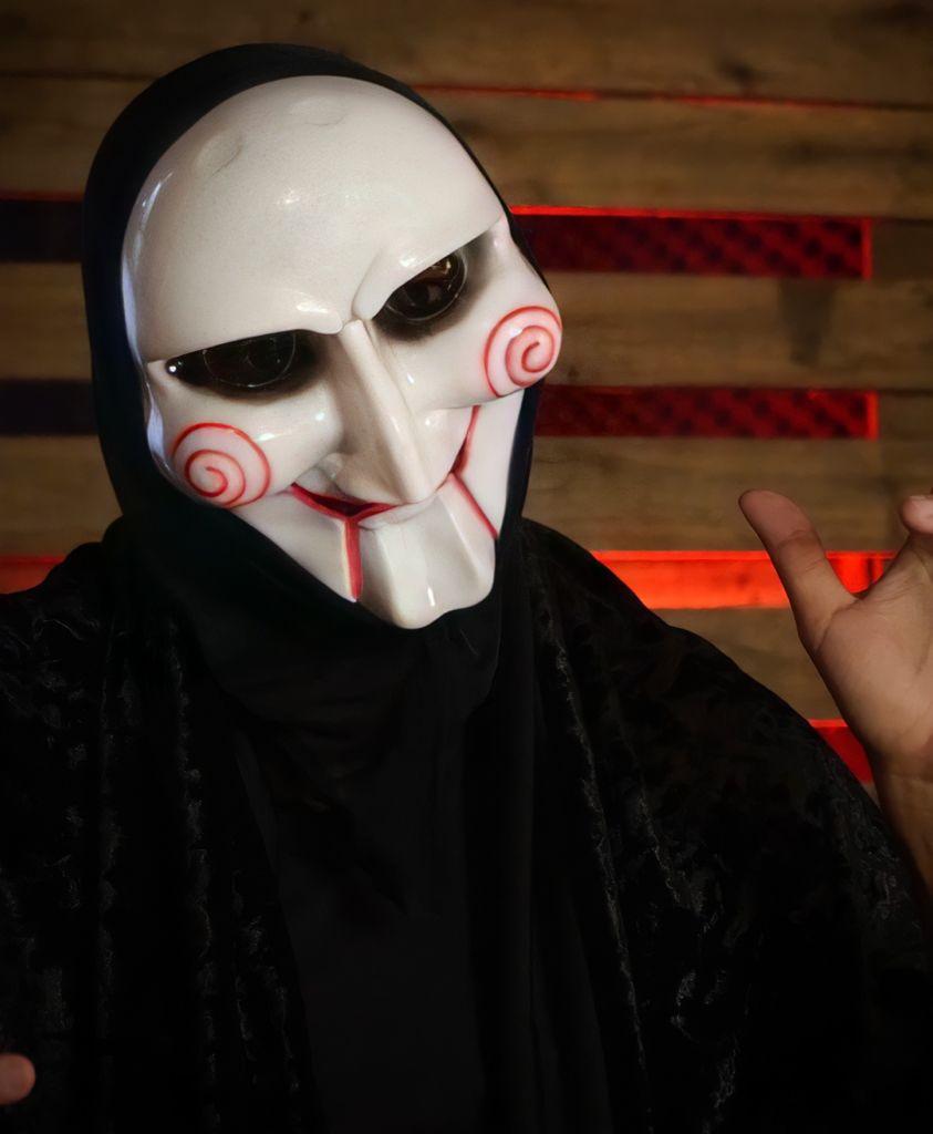 Máscara Jigsaw: Jogos Mortais Terror Halloween Dia das Bruxas