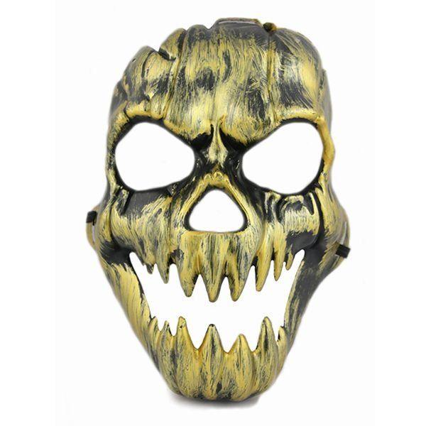 Máscara metalizada caveira (Cobre) - Acessório de Fantasia