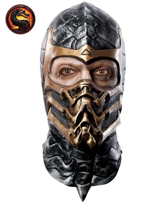 Mascara Mortal Kombat Scorpion Latex - RUBIES COSTUME CO