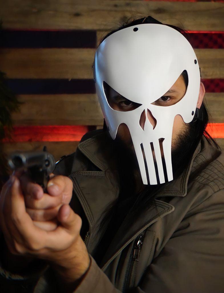 Máscara O Justiceiro The Punisher: Terror Halloween Dia das Bruxas