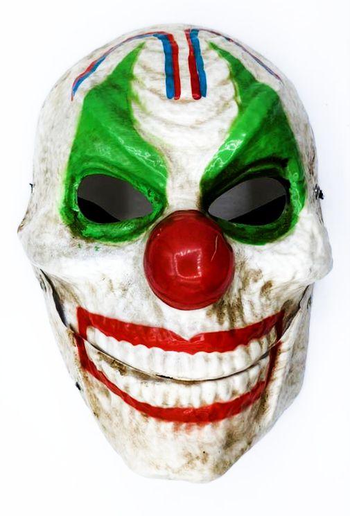 Máscara Palhaço Caveira Halloween - (Acessório Fantasia)