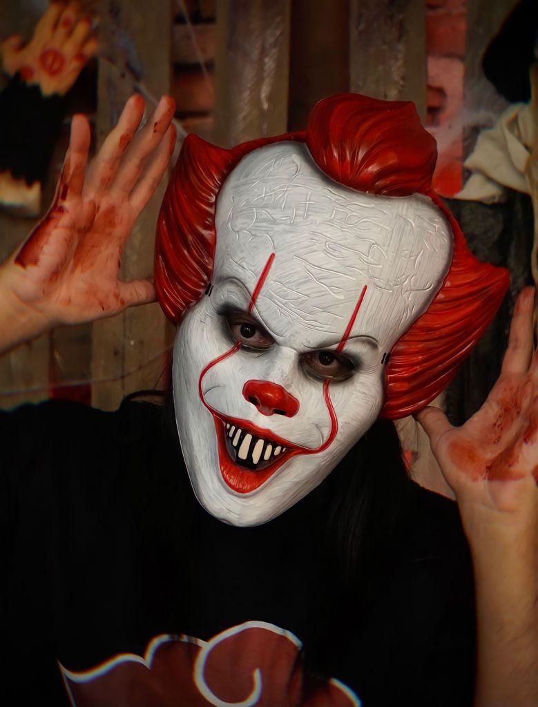 Máscara Pennywise : IT a Coisa 2 Terror Halloween Dia das Bruxas