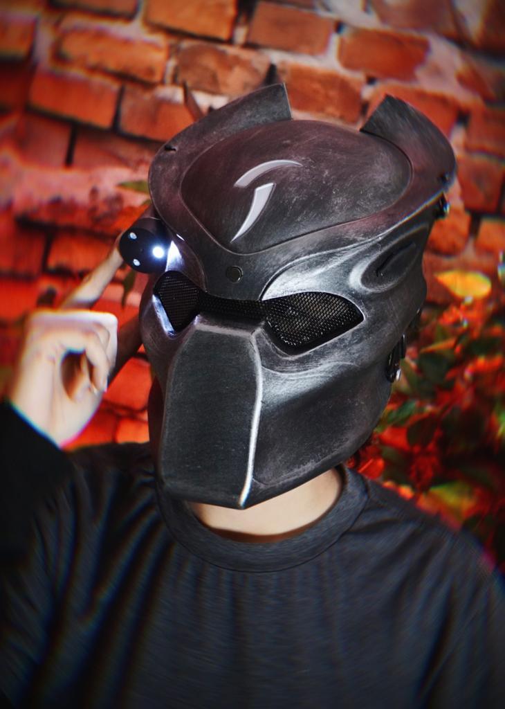 Máscara Predador LED Cosplay Airsoft