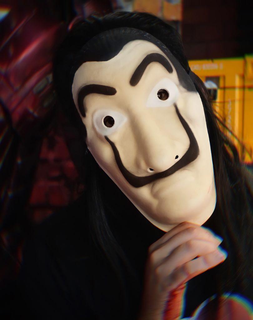 Máscara Salvador Dalí: La Casa de Papel Terror Halloween Dia das Bruxas