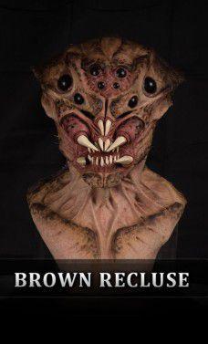 Máscara Silicone: Arachnid Brown Recluse - Immortals Products (Apenas Venda Online)