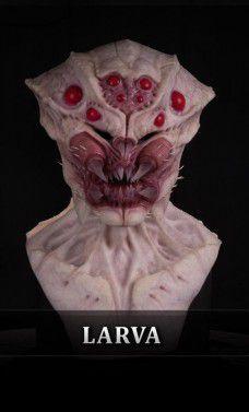 Máscara Silicone: Arachnid Larva - Immortals Products (Apenas Venda Online)