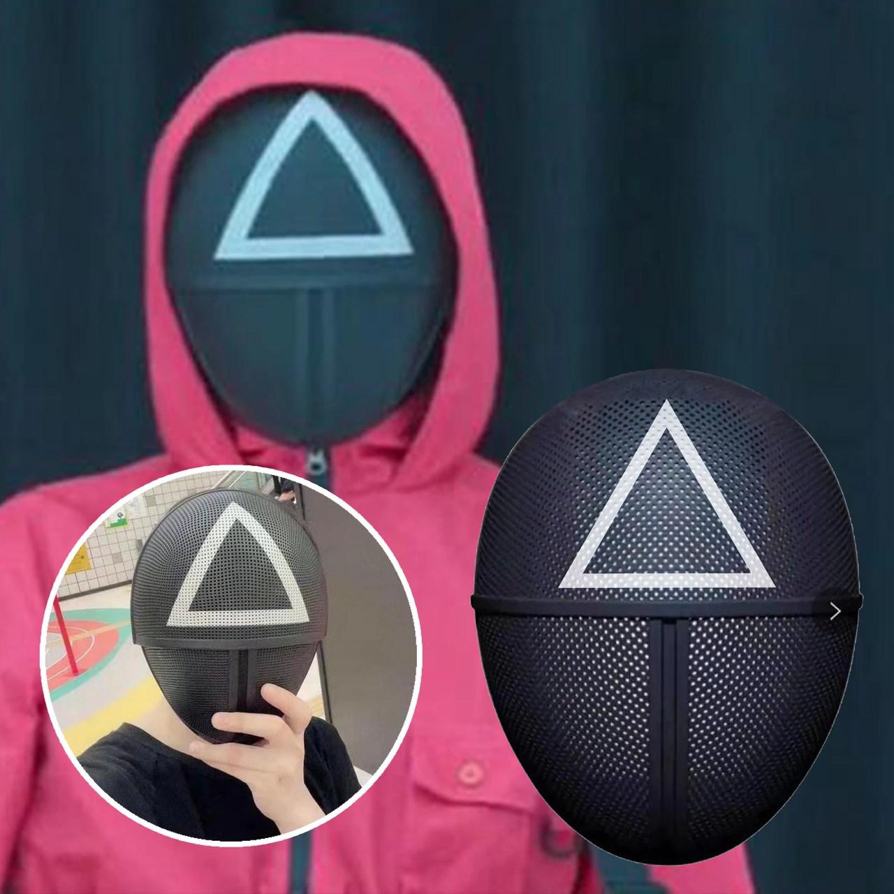Máscara Símbolo Triângulo: Squid Game Round 6 Netflix - MKP