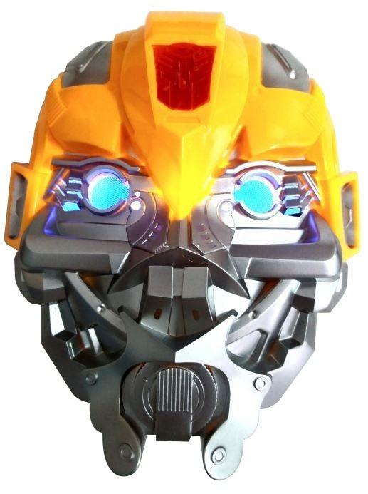 Máscara Transformers Bumblebee com luz - Acessório de Fantasia