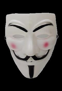 Máscara V: V de Vingança (V for Vendetta) - Acessório Fantasia