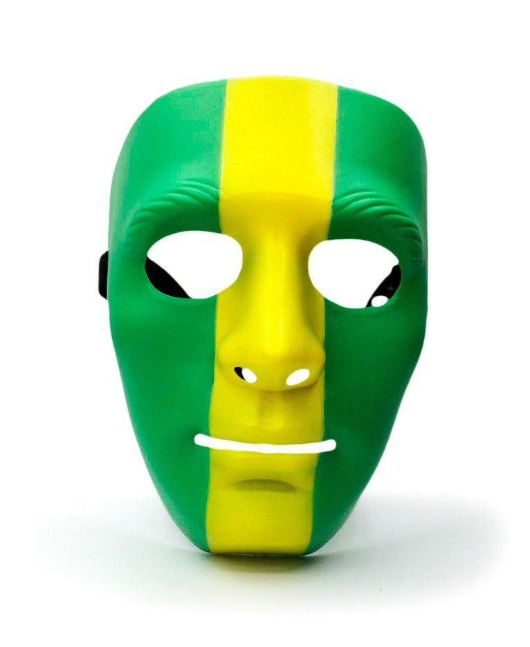 Máscara Verde Faixa Amarela: Copa do Mundo Rússia 2018