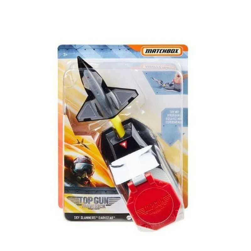 Matchbox Avião Com Lançador de Jatos: Top Gun Maverick (Darkstar) - Mattel