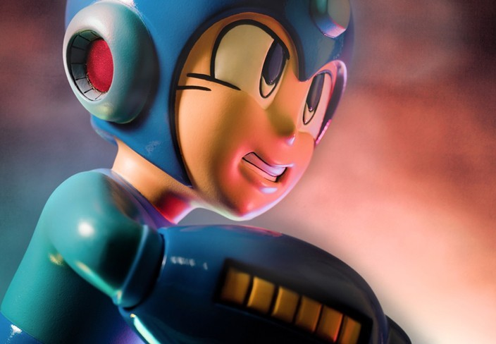 Estátua Mega Man (Running): Capcom - First4Figures
