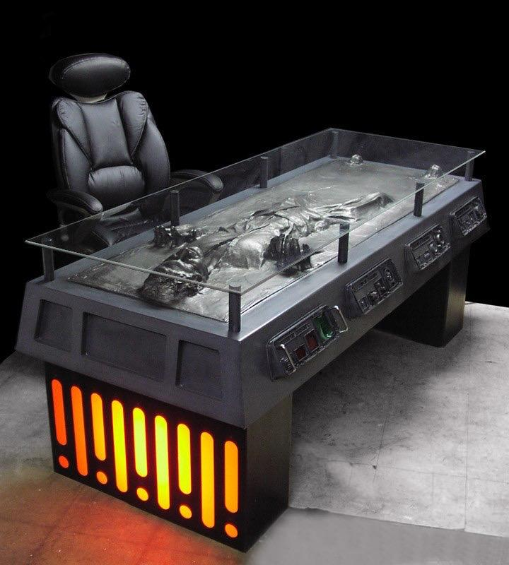 Mesa De Escritório Han Solo: Star Wars (Carbonite 3D)