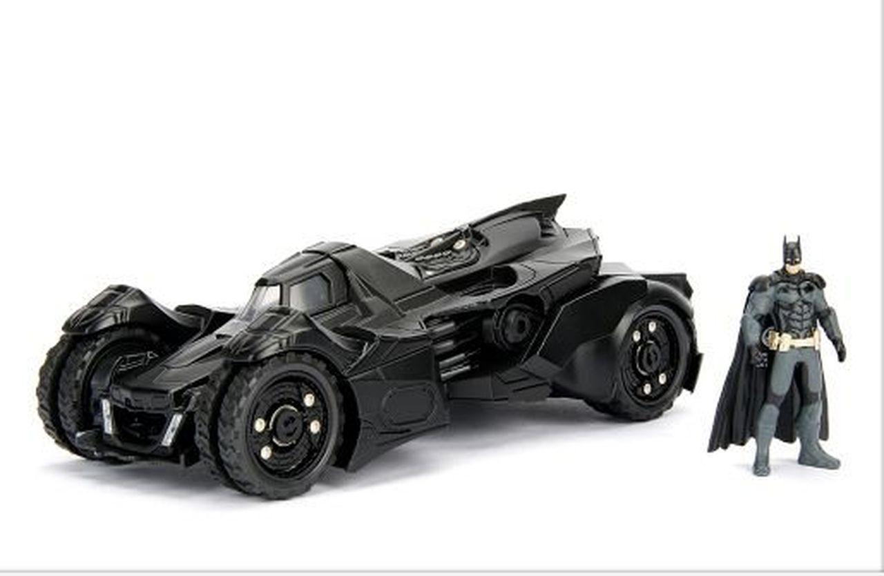 Metal Die Cast Batman e o Batmóvel (Batmobile) 2015: Batman Arkham Knight (DC Comics) Escala 1/24 - Jada Toys