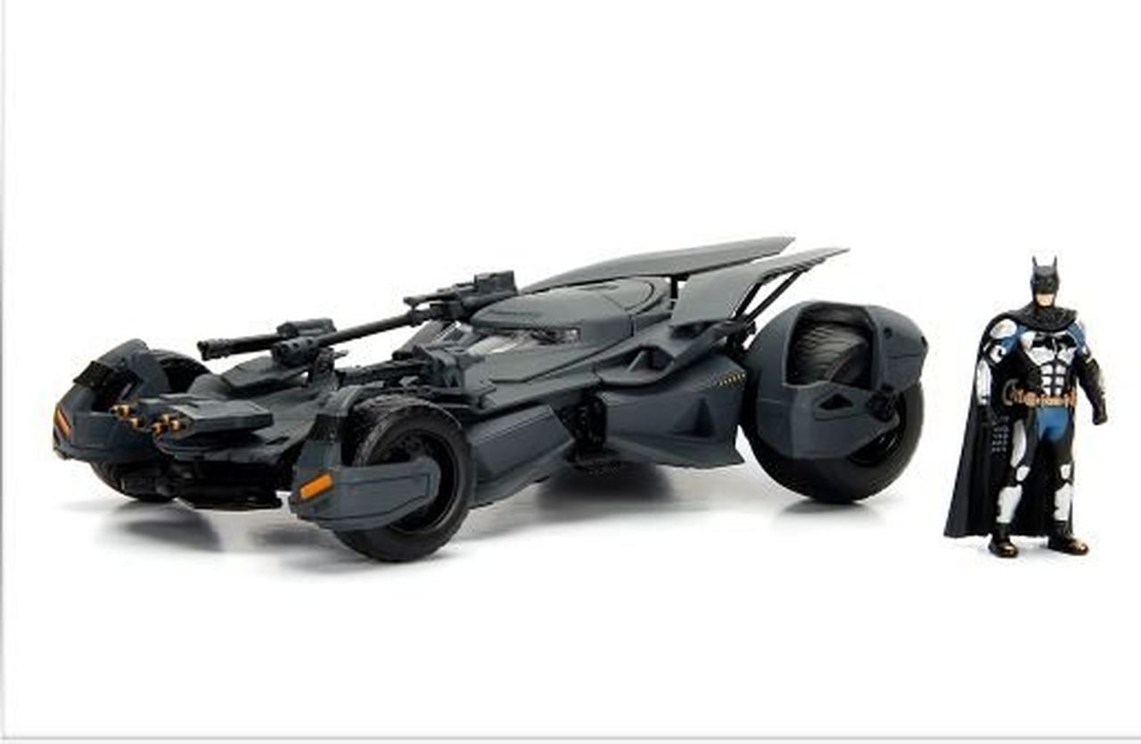 Metal Die Cast Batman e o Batmóvel (Batmobile): Liga da Justiça (Justice League) DC Comics (Escala 1/24) - Jada Toys