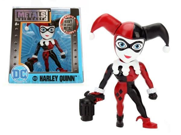 Metals Die Cast (Mini): Harley Quinn (M388) Uniforme Clássico Vermelho e Preto - DTC