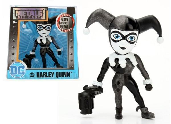 Metals Die Cast (Mini): Harley Quinn (M389) Uniforme Preto e Branco - DTC