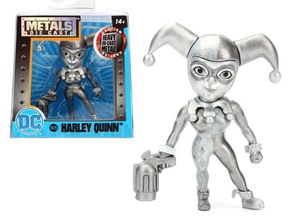 Metals Die Cast (Mini): Harley Quinn (M395) Uniforme Clássico Prateada - DTC