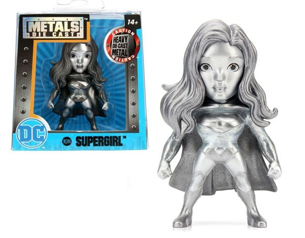 Metals Die Cast (Mini): SuperGirl (M394) Prateado - DTC