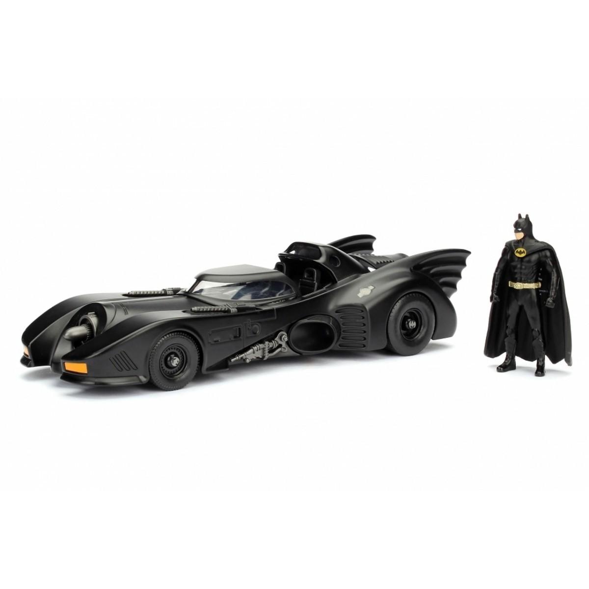 Metals Die Cast Batmobile Batman 1989 com Miniatura do Batman Escala 1/24 - DTC
