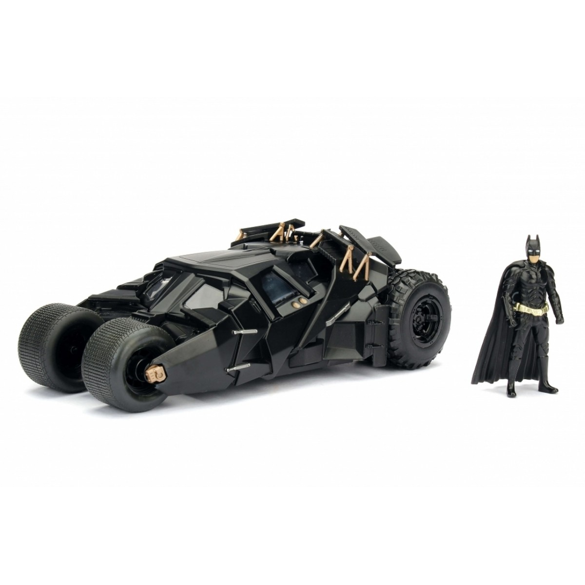 Metals Die Cast Batmobile The Dark Knight: Batman: O Cavaleiro das Trevas com Miniatura do Batman Escala 1/24 - DTC