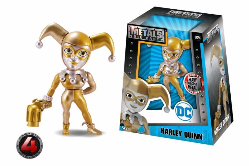 Metals Die Cast: Harley Quinn 4'' (M396) Golden