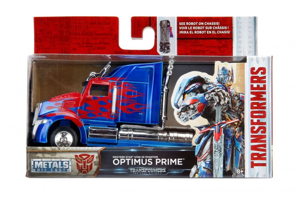 Metals Die Cast Optimus Prime: Transformers The Last Knight Escala 1/32 - DTC