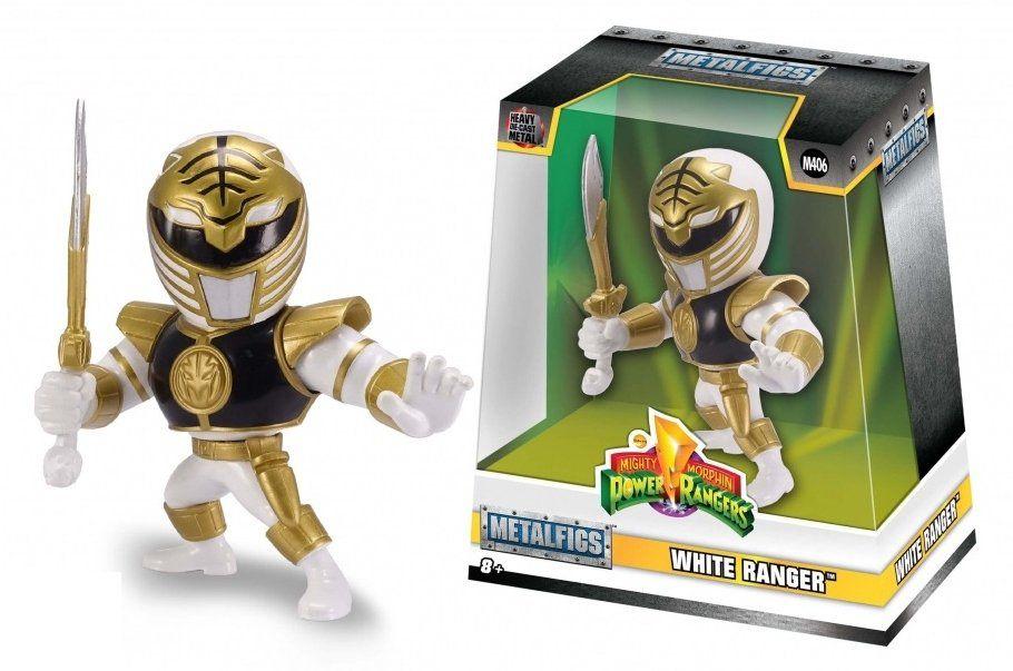 Metals Die Cast Ranger Branco: Power Rangers (M406) - DTC