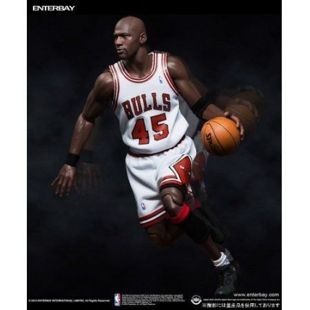 "Action Figure Michael Jordan Serie 1 ""Im Back"" #45 Home Version Limited Edition Escala 1/6 Masterpiece - Enterbay"