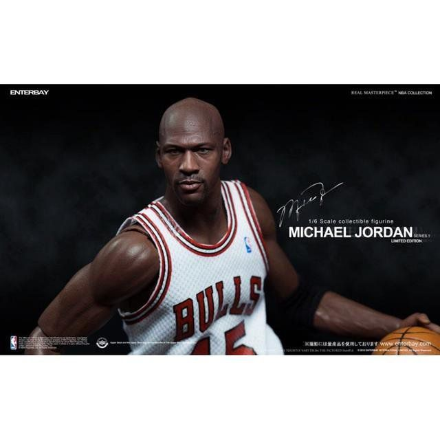 "Boneco Michael Jordan Serie 1 ""Im Back"" #45 Home Version Limited Edition NBA Classic Collection Escala 1/6 - Enterbay - CD"