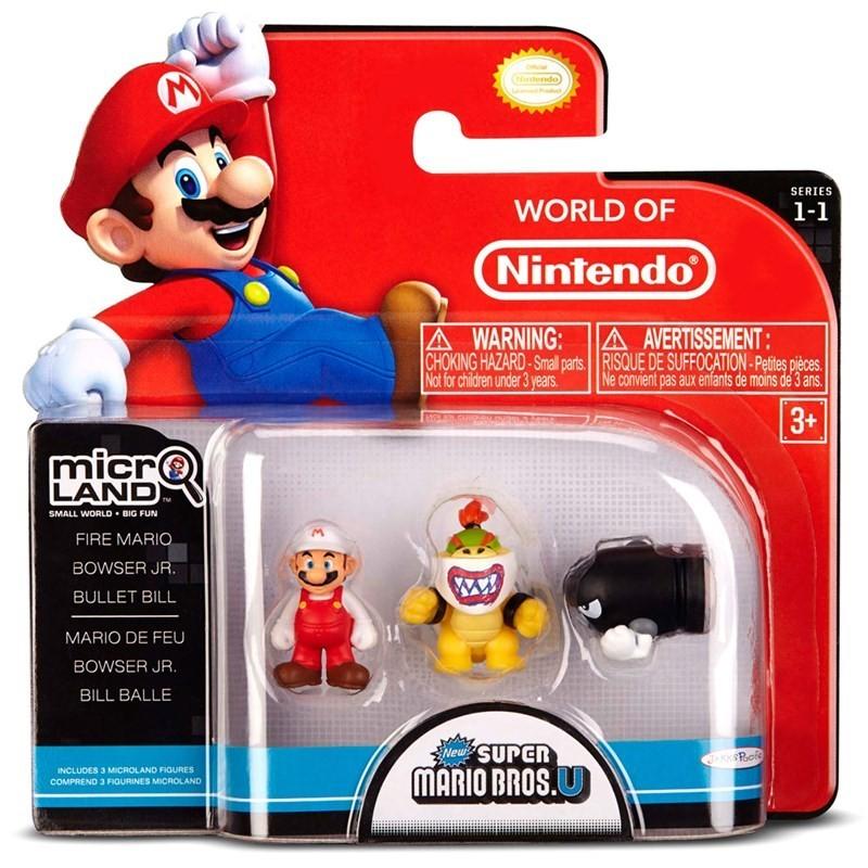 Micro Land Super Mário: Fire Mario Bowser Bullet Bill - DTC