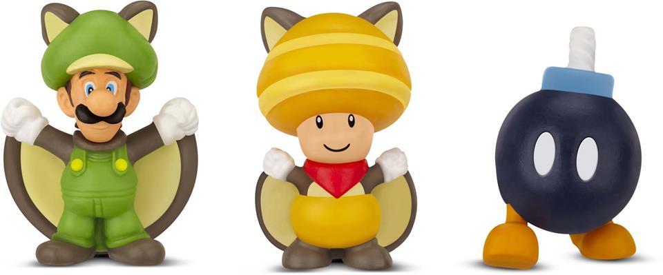 Micro Land Super Mário: Flying Squirrel Luigi Toad Bob-Omb - DTC