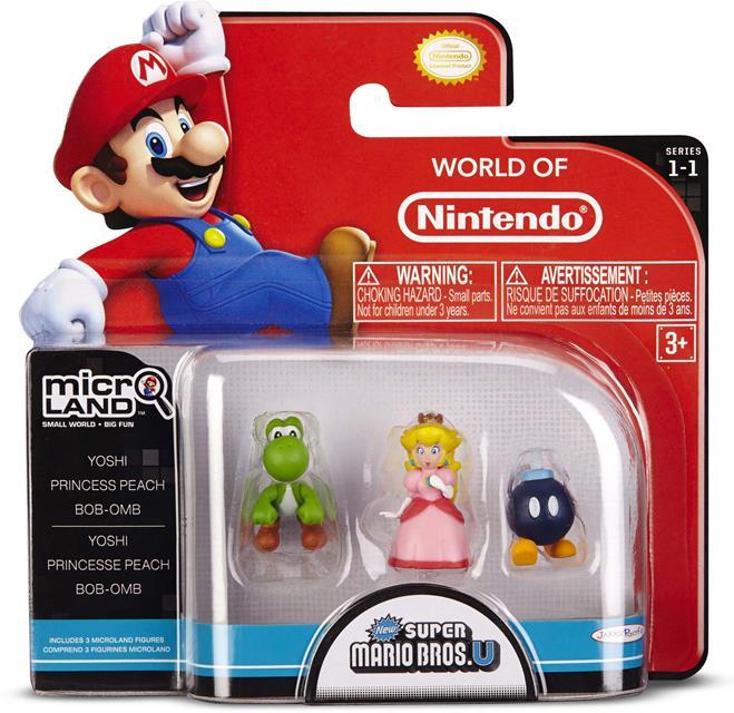 Micro Land Super Mário: Yoshi Princess Peach Bob-Omb - DTC