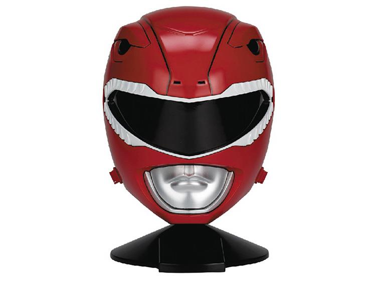 Réplica Capacete Ranger Vermelho (Red Ranger): Mighty Morphin Power Rangers: Legacy Escala 1/1- Bandai
