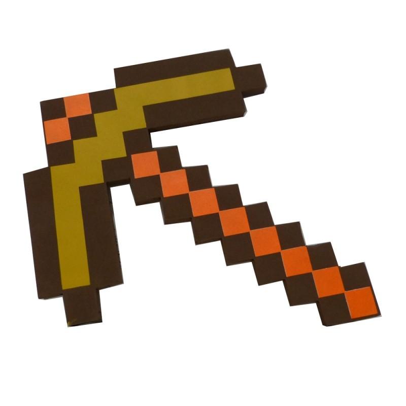 Minecraft: Picareta de Ouro - Zr Toys
