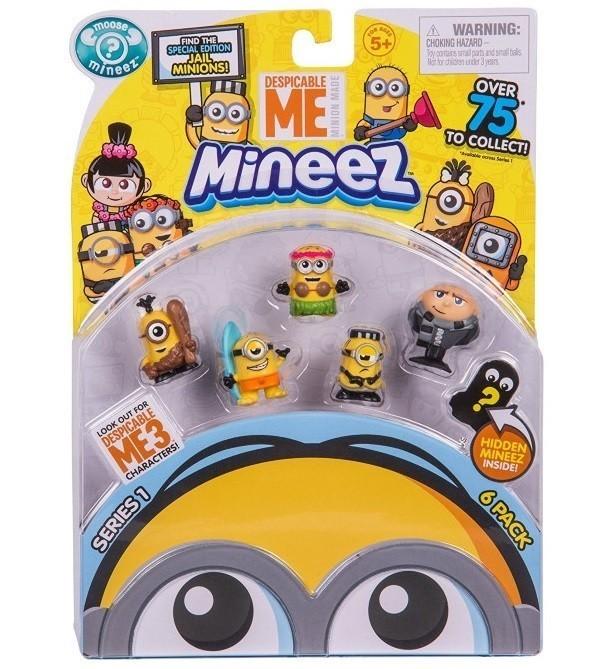 Mineez Minions Kit com 6 Personagens Sortidos: Meu malvado Favorito - DTC