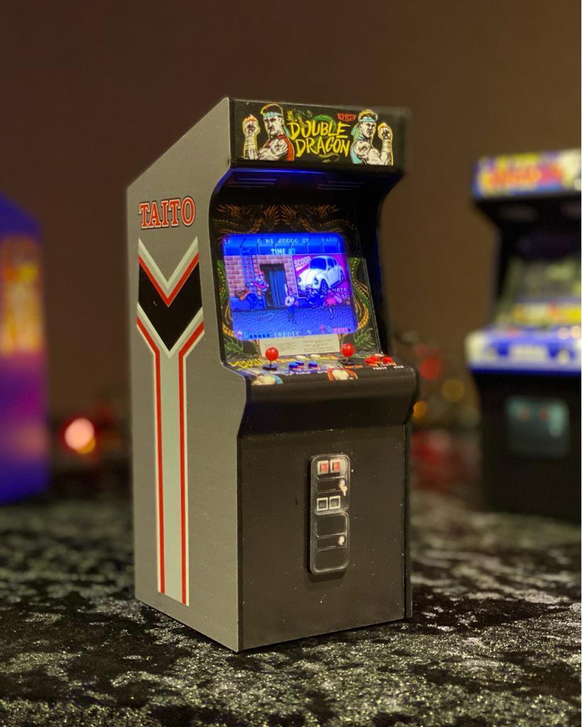 Mini Arcade Bartop Fliperama Decorativo: Double Dragon
