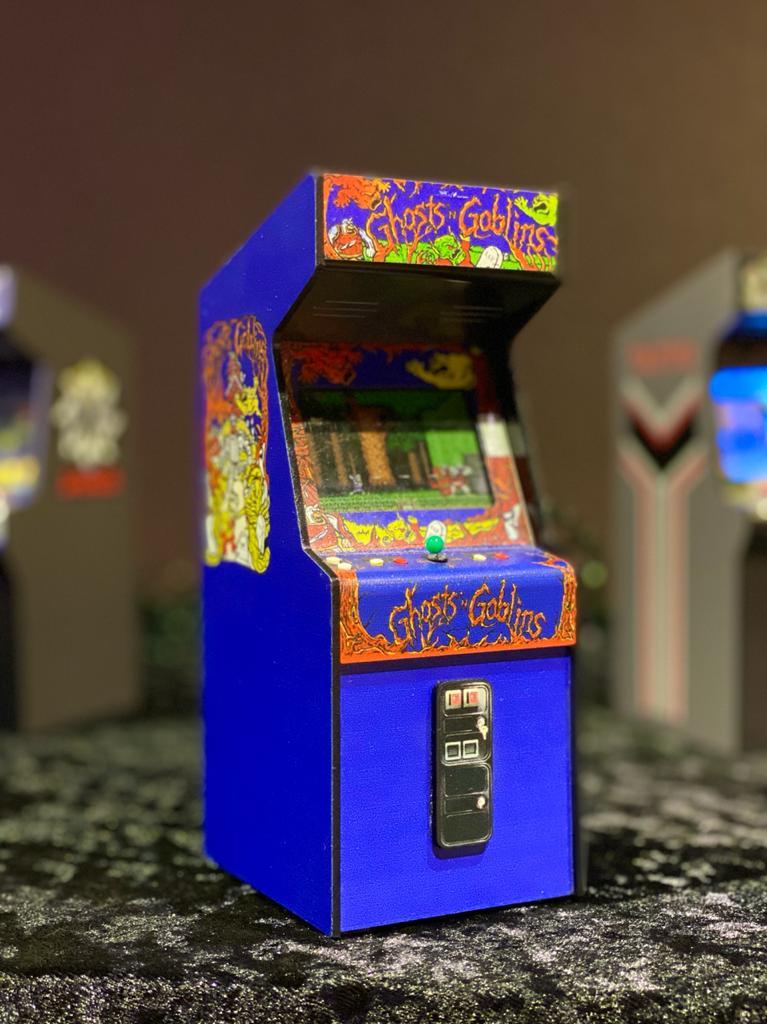 Mini Arcade Bartop Fliperama Decorativo: Ghosts N Goblins