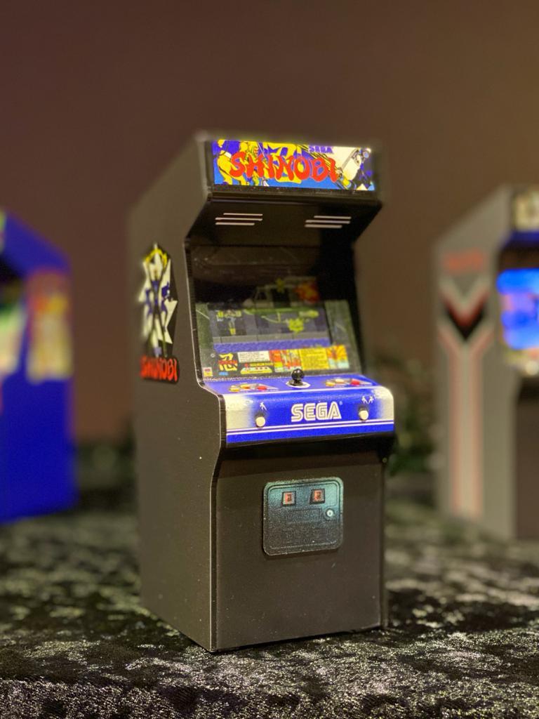 Mini Arcade Bartop Fliperama Decorativo: Shinobi