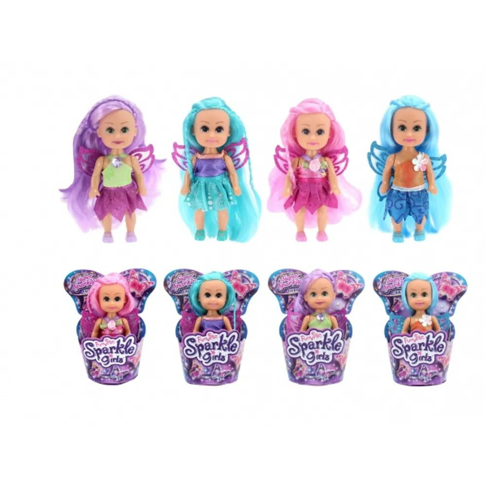 Mini Boneca Fada Super Brilhante: Sparkle Girlz (Sortido) - DTC